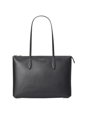 all day large zip tote black