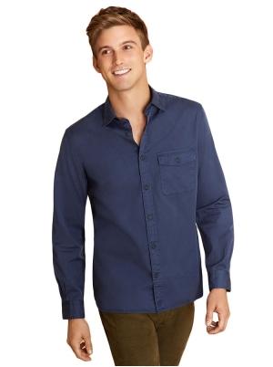 Garment-Dyed Twill Shirt