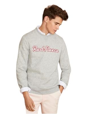Red Fleece Crewneck Sweatshirt