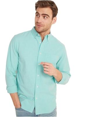 Regular-Fit Built-In Flex Everyday Oxford Shirt for Men