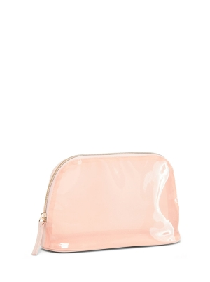 Clear Vinyl Dome-Shaped Cosmetic Bag for Women