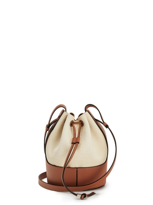 Small Balloon bag in canvas and calfskin