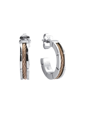 Earrings Forever Slim Svart