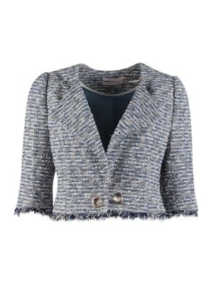 Textured Tweed Cropped Jacket