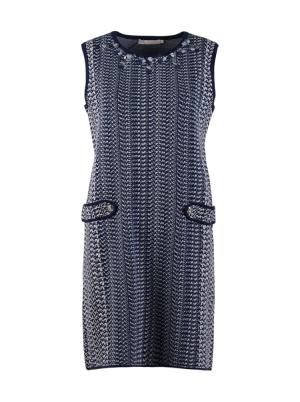 Jacquard Knit Mini Dress