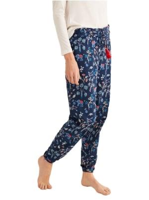Long printed pajama pants