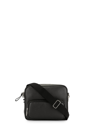 ZIPPED MESSENGER BAG IN LEATHER